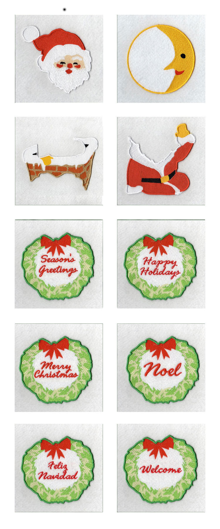 Santa Wall Hanging Embroidery Machine Design Details