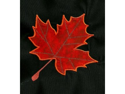 Machine Embroidery Designs Applique Leaves Set